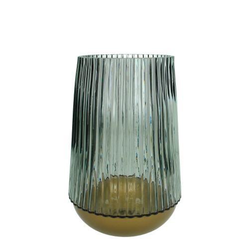 Glass Vase Large   Blue
