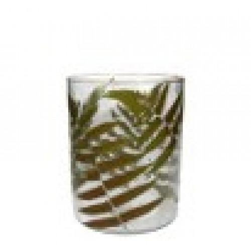 Glass Vase - 15 x 15cm   Fern