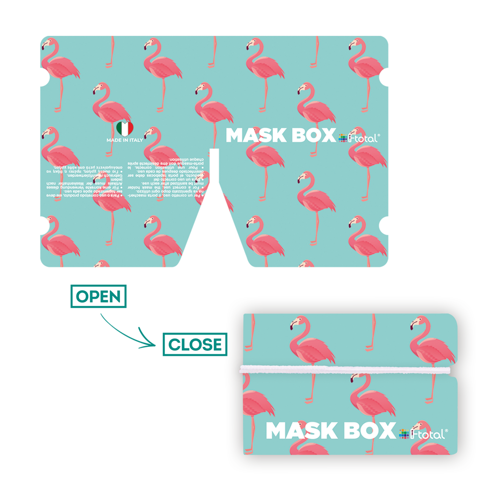Gesichtsmasken-Box   Flamingo