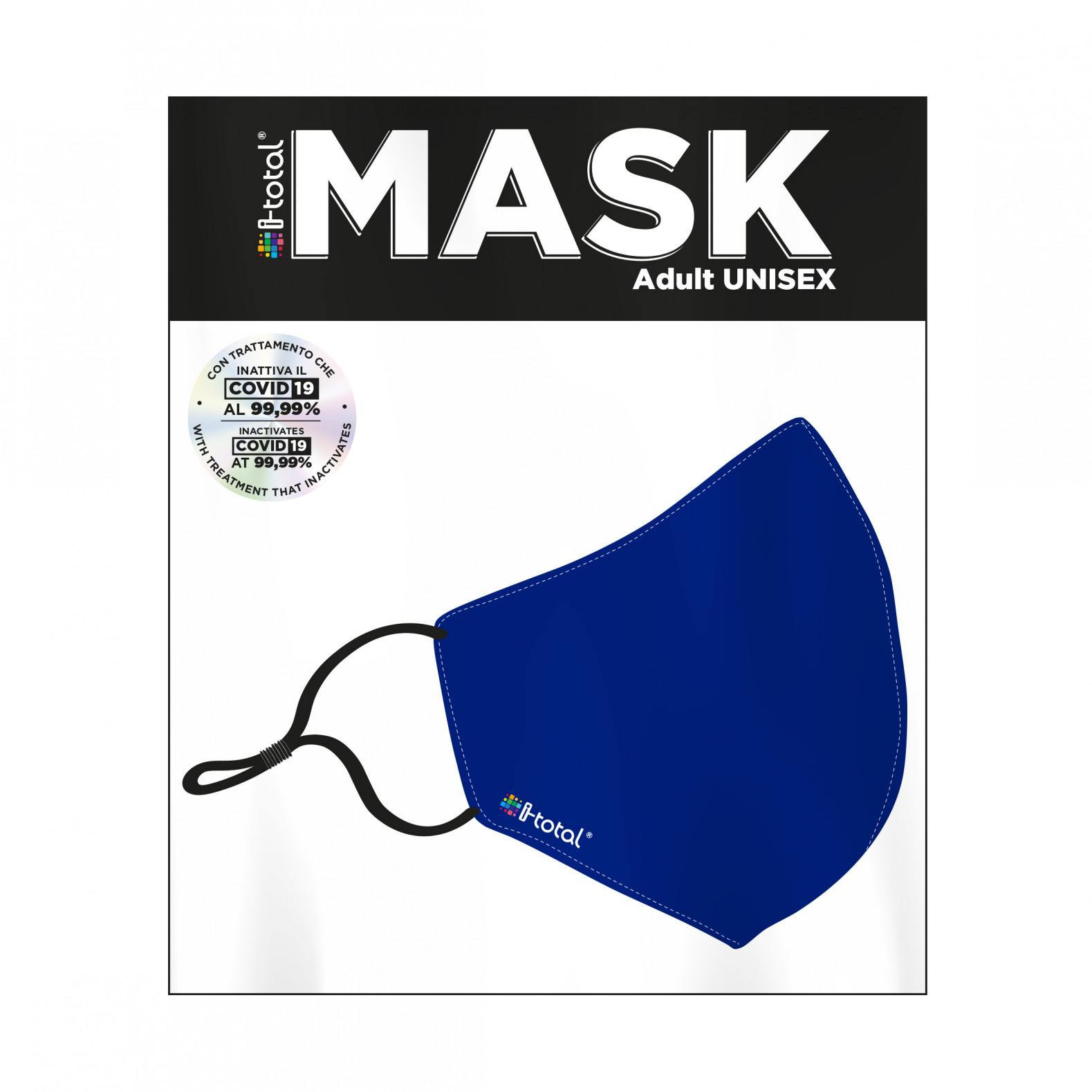 Gesichtsmaske | Polyester | Blau