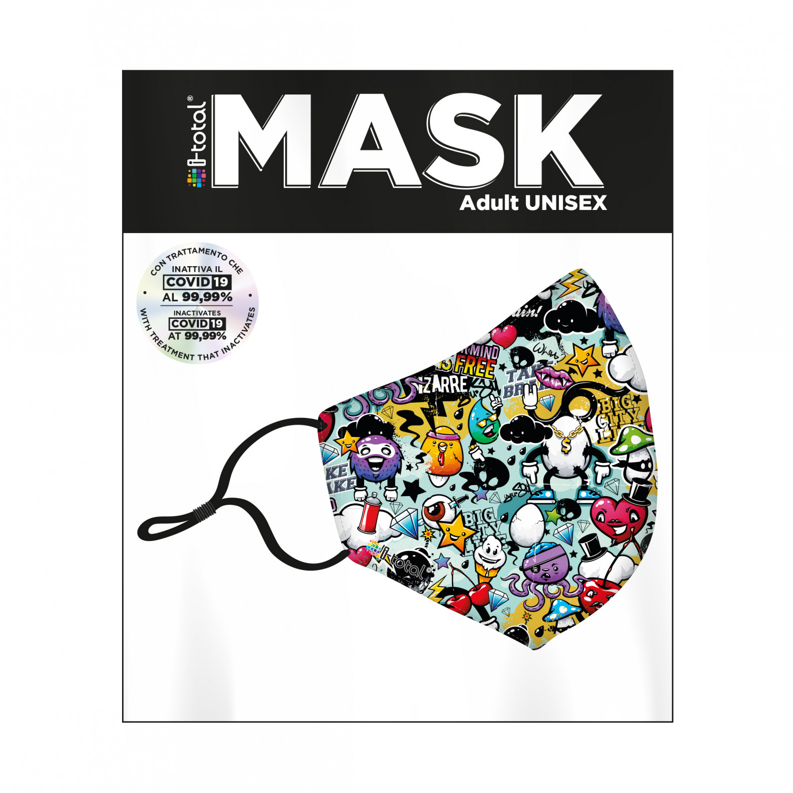 Gesichtsmaske | Polyester | Graffiti