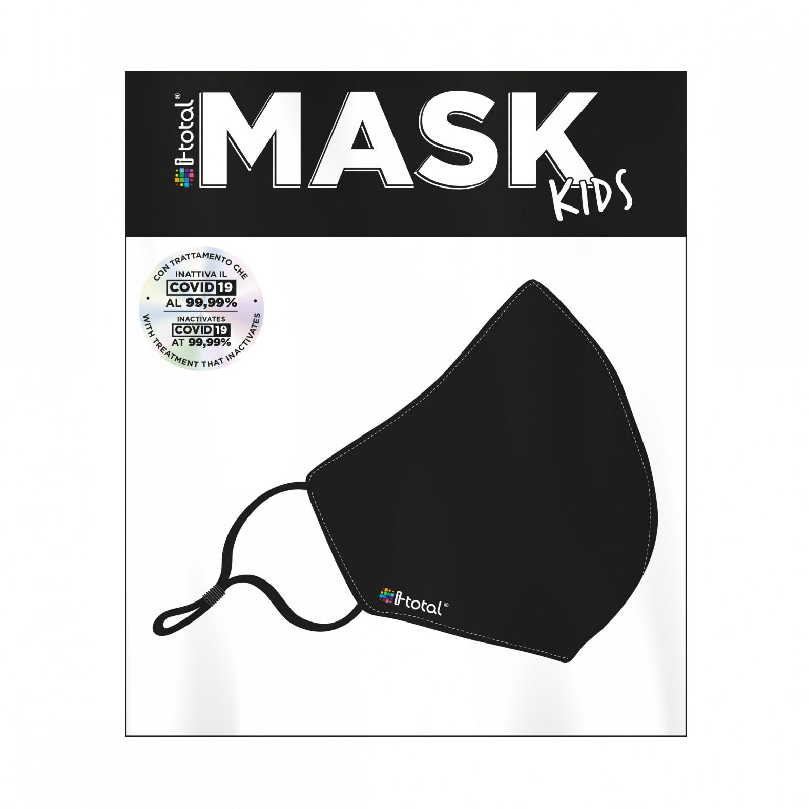 Gesichtsmaske Kids | Polyester | Schwarz