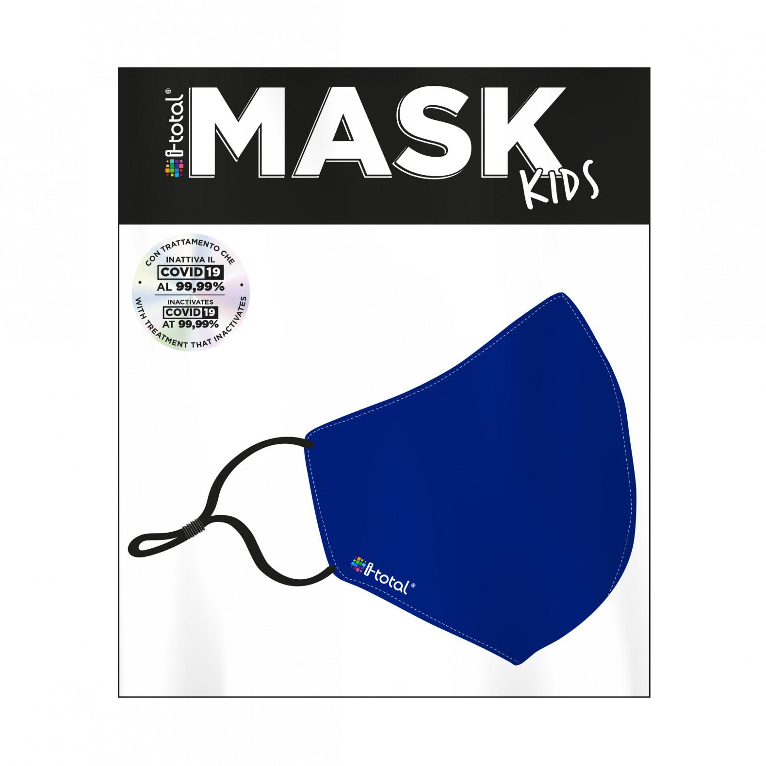 Gesichtsmaske Kinder | Polyester | Blau