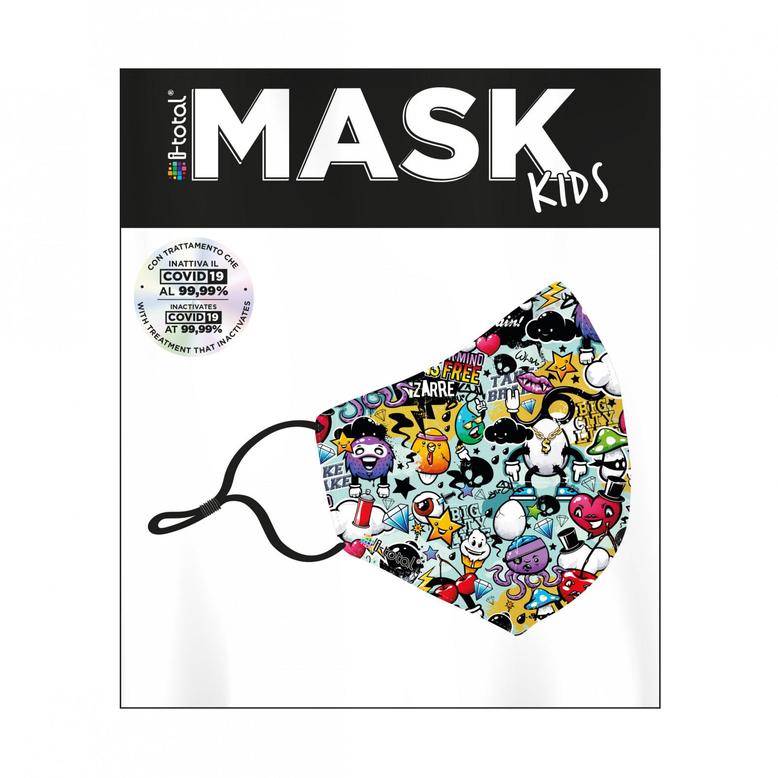 Gesichtsmaske Kinder | Polyester | Graffiti