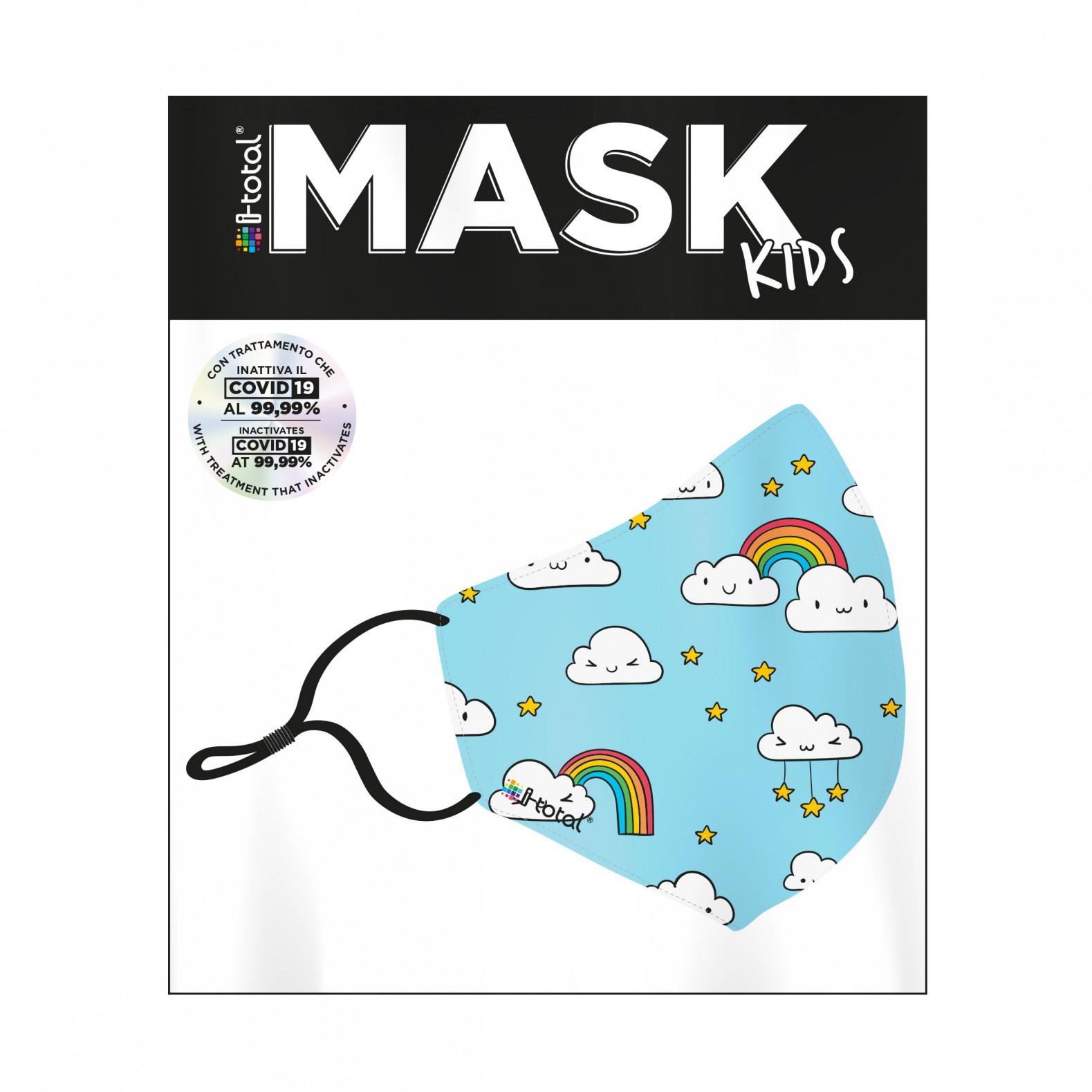 Gesichtsmaske Kinder   Polyester   Wolken