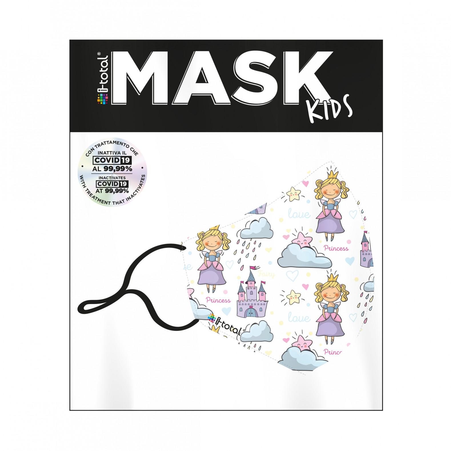 Gesichtsmaske Kinder | Polyester | Prinzessin