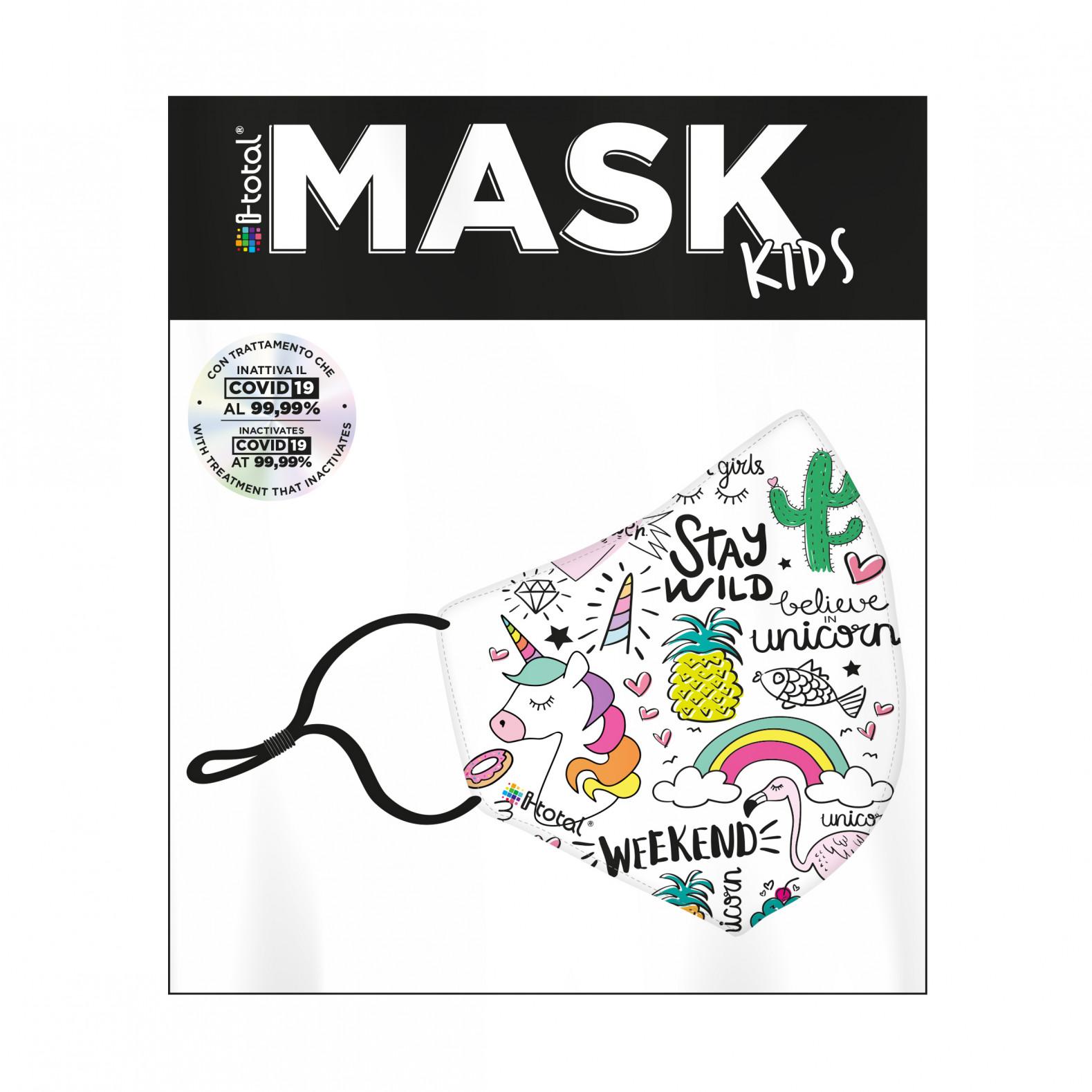 Gesichtsmaske Kinder | Polyester | Einhorn