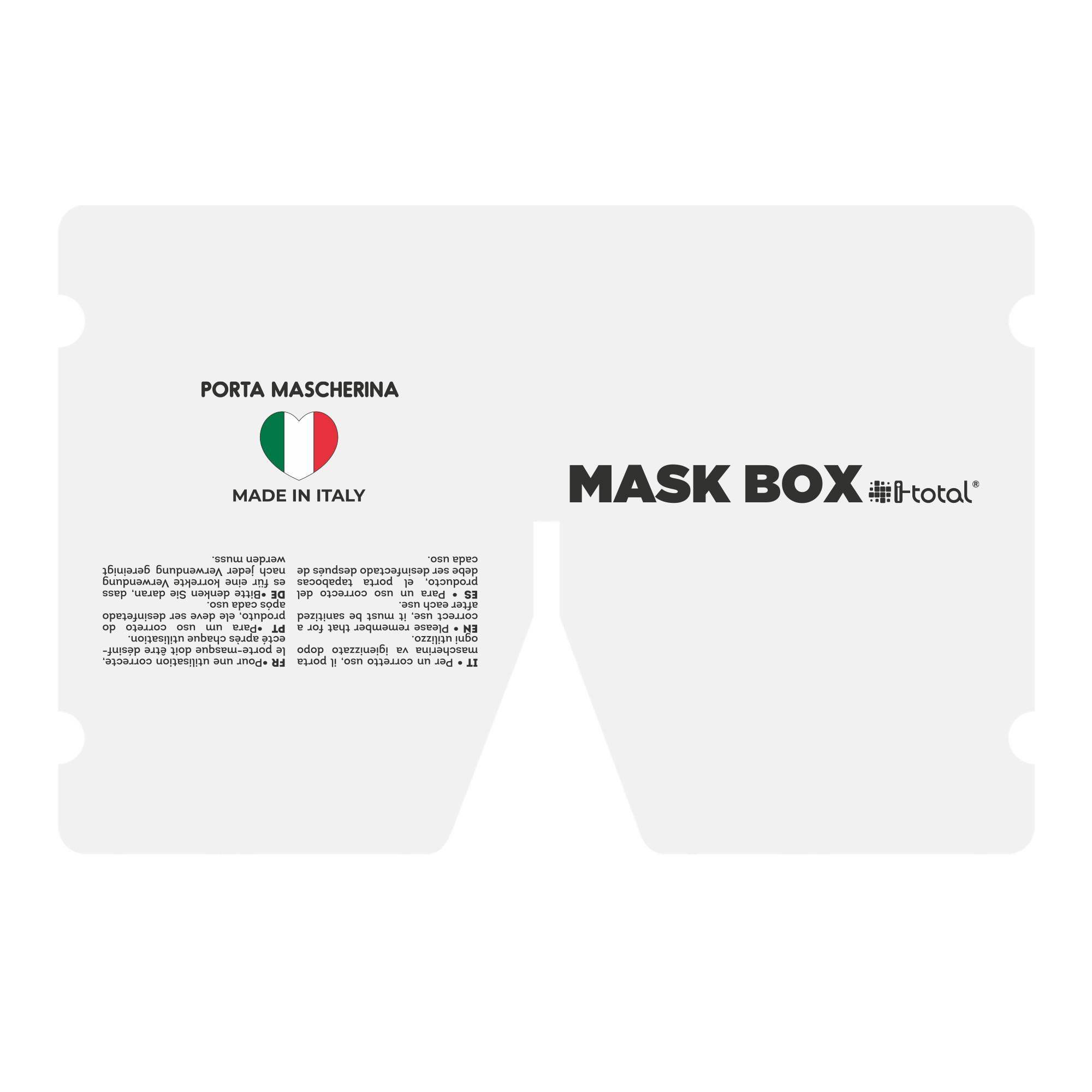 Gesichtsmasken-Box | Weiß