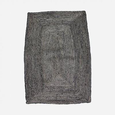 Teppich Structure 130 x 85 cm | Schwarz & Grau
