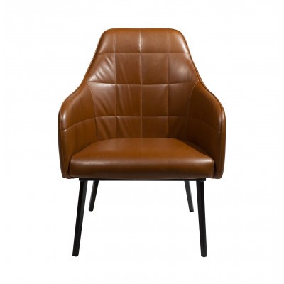 Lounge Chair Embrace Artificial Leather | Vintage Light Brown