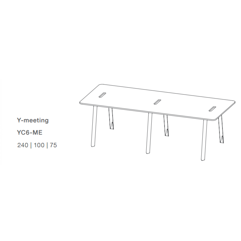 Rechteckige Y-System Tisch
