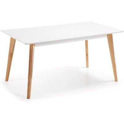 Esstisch Meety | Weißes & helles Holz