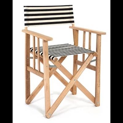 Director Chair Striped | Black / White
