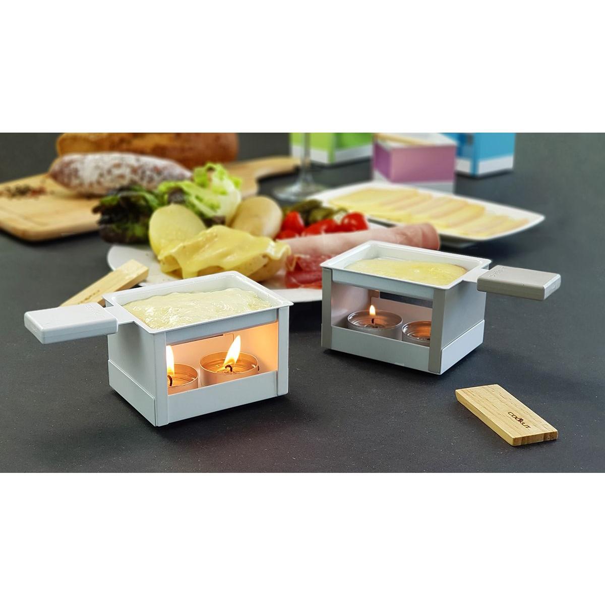 Raclette-Set mit Teelicht   Weiß