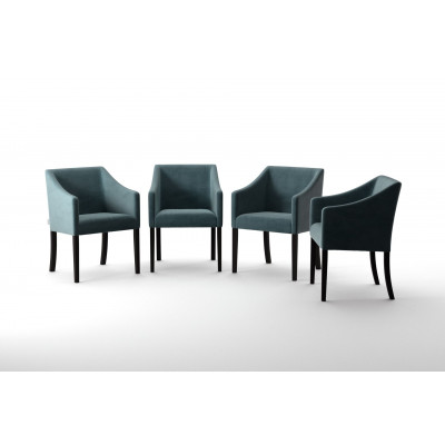 4er-Set Esszimmerstühlen Illusion   Grun
