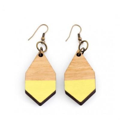 Diamantene Ohrringe   Gelb