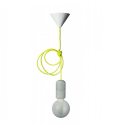 Concrete Pendant Lamp | Yellow