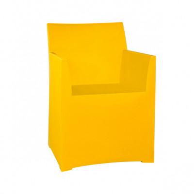 Rainbow Stool with cushion - Yellow
