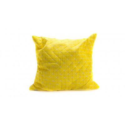 Origami-Kopfkissenbezug | Gelb