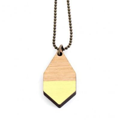 Diamantene kleine Halskette   Gelb