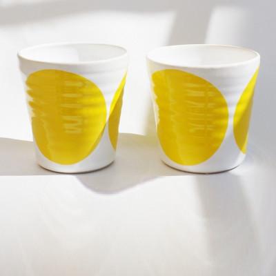 TINA Mug Set of 2   Yellow