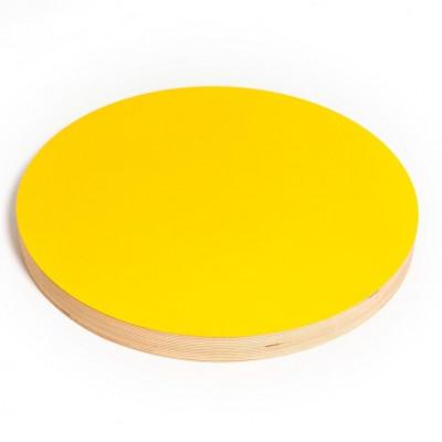 Runde Kreide- und Magnettafel | Gelb