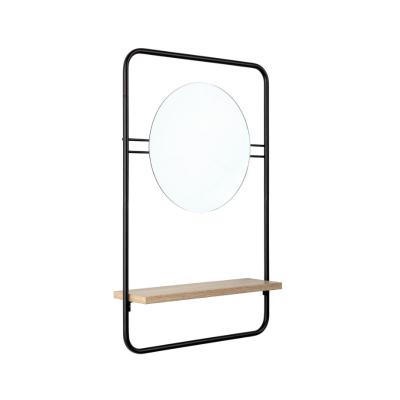 Spiegel mit Ablage Quiete | Schwarz