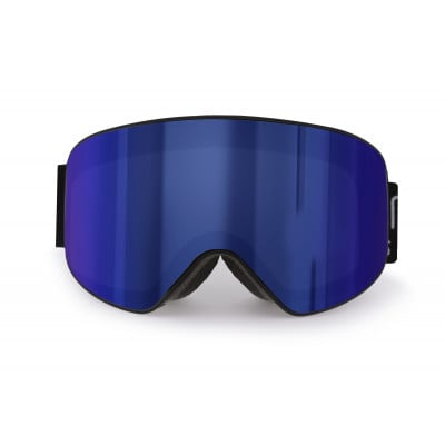 Schneebrille Eira | Schwarzer Rahmen / Blaue Linsen