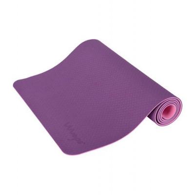 Yogamatte Anti-Rutsch | Dunkel Lila & Rosa