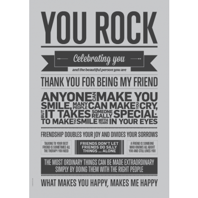 Shades of Grey Poster | You Rock