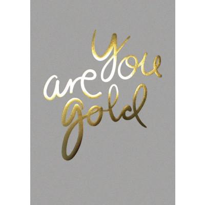 Du bist Gold Poster   Real Grey