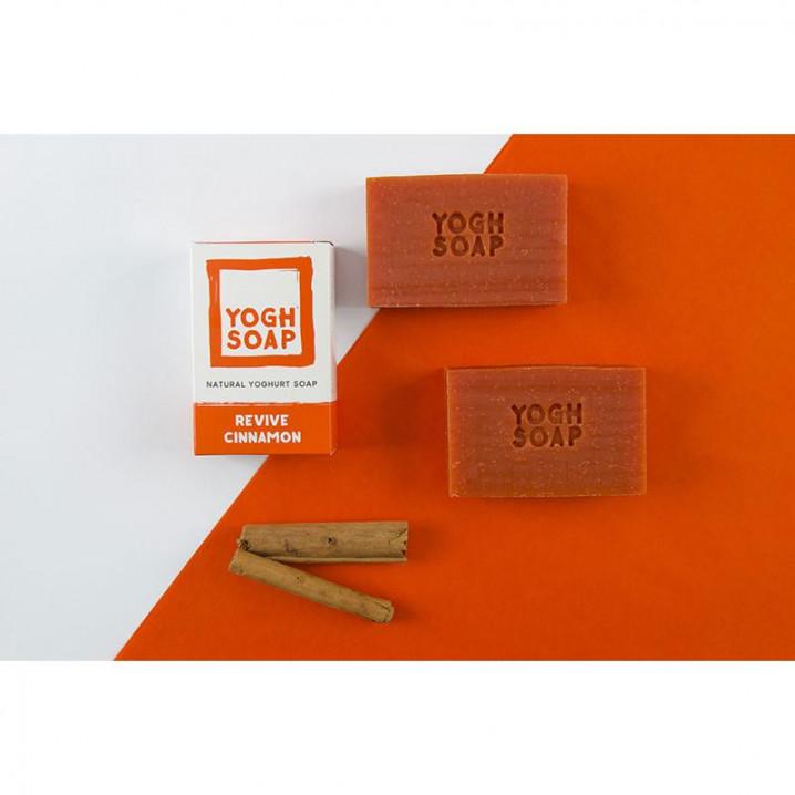 Set de 3 Savons Naturels au Yaourt | Revive Cinnamon | Orange