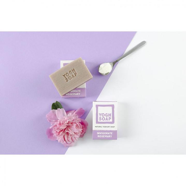 3er-Set Natürliche Joghurtseifen   Belebender Rosmarin   Lila