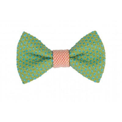 Yumi Bow Tie   Green-Pink