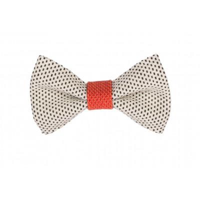 Yumi Bow Tie   White-Red
