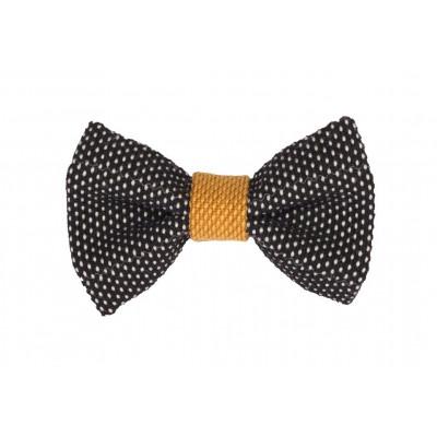 Yumi Bow Tie   Black-Yellow