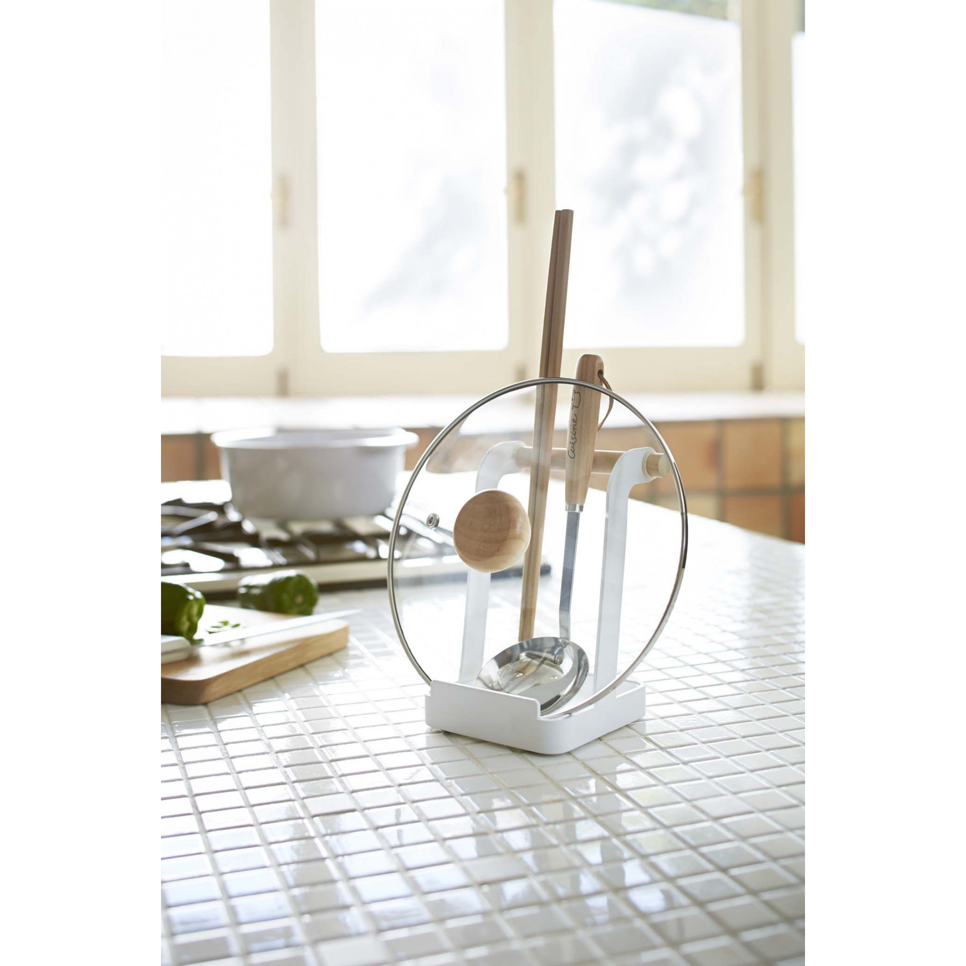 Ladle & Lid Stand Tosca | White
