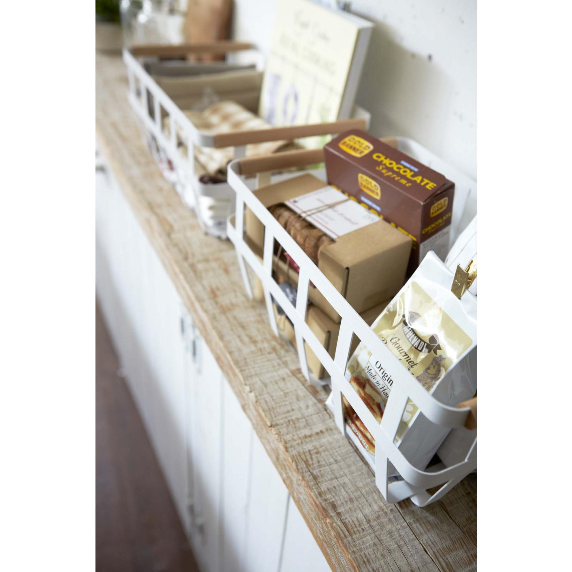 Storage Basket 2 Handles Tosca   White