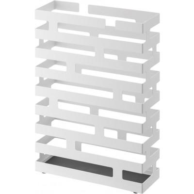 Umbrella Stand Rectangle Brick | White