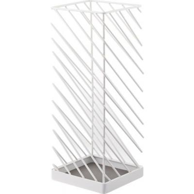 Quadratischer Schirmständer Slash | Weiß
