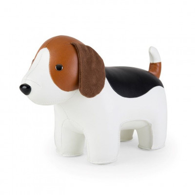 Buchstütze Beagle | Weiß-Tan