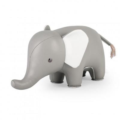Buchstütze Elefant Grau