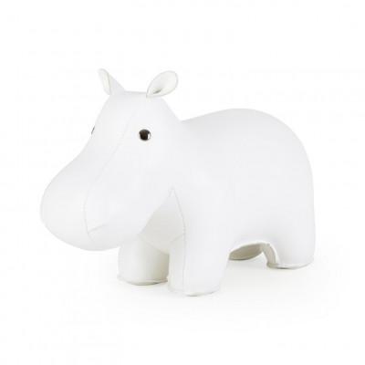 Buchstütze Nilpferd Weiß
