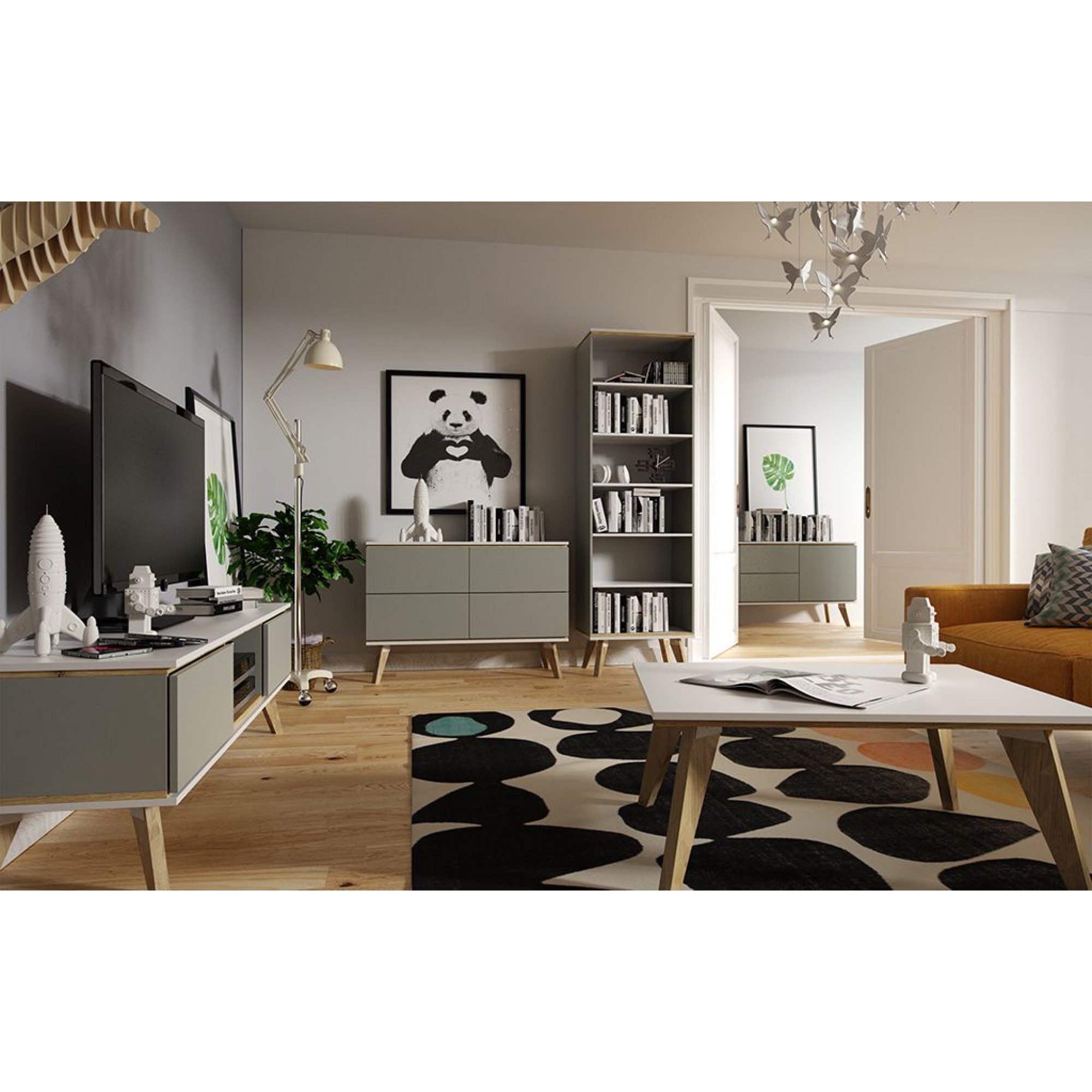 Bookshelf Jorgen | Grey