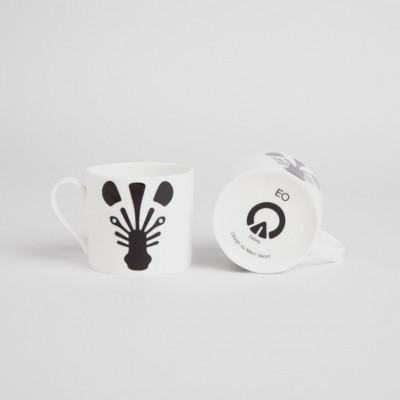 Tasse mit Tieren | Zebra