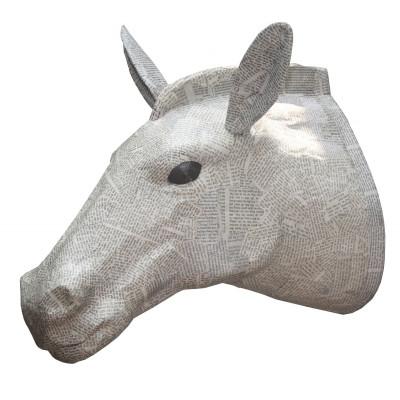 Papiermaché-Zebra