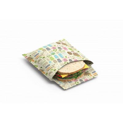 Wiederverwendbare Sandwich- und Snackbeutel 2er-Set | Null Abfall