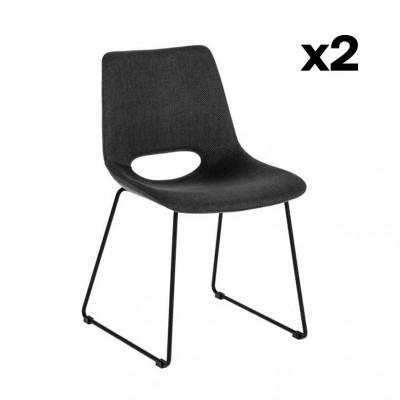 2er Set Stühle Ziggy   Dunkelgrau