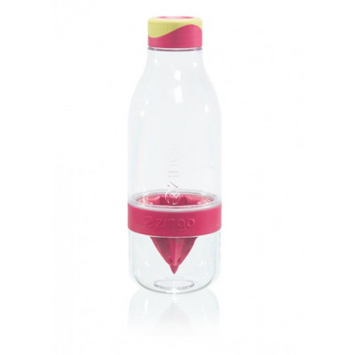 Trinkflasche mit Infusor Zingo | Transparentes Rosa
