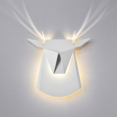 Wall Light Deer Head   Aluminium   White
